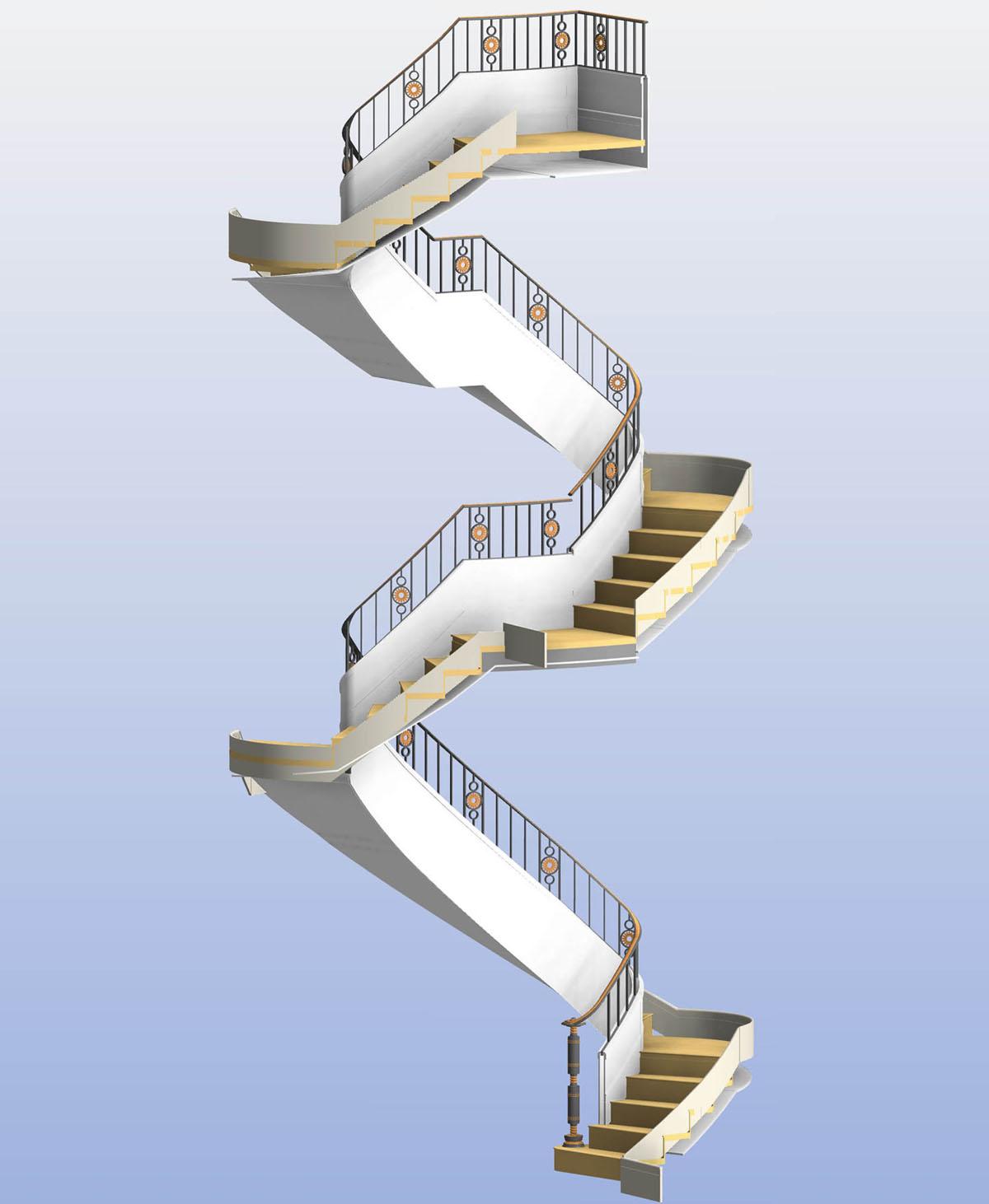 Elliptical Spiral Stair